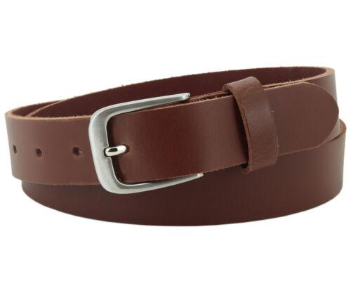 Echt Ledergürtel für Herren /& Damen 3 cm Hellbraun Jeans Leder Gürtel #3-0006-13