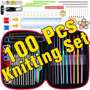 100Pcs-Crochet-Hooks-Set-Knitting-Needle-Mix-Home-Sewing-DIY-Tools-Xmas-Gift
