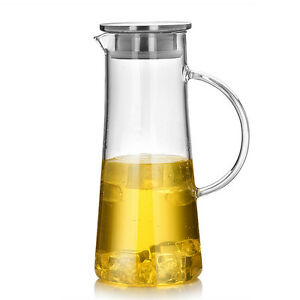 Heat resistant glass pitcher tea coffee pot home juice beverage water jug bottle - Heat proof pitcher ...