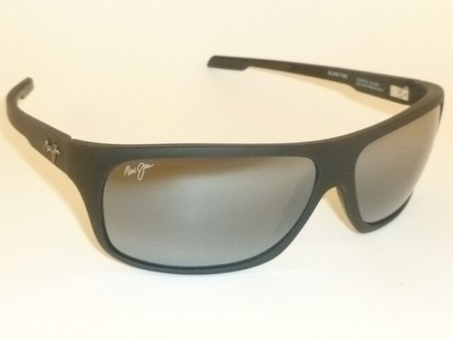 4a35a6c6b27 New Authentic Polarized MAUI JIM ISLAND TIME Sunglasses 237-2M Matte Black