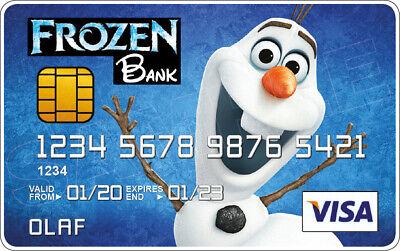 Frozen Novelty Plastic credit card