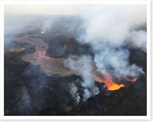 2018 Kilauea Volcano Fissure 22 Lava Fountain Silver Halide Photo