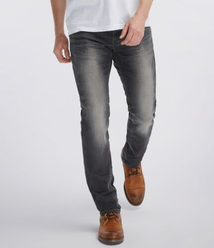 Used-Bleached-Effekt Mustang Oregon Tapered K Herren Slim Fit Sweat Jeans