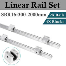2pcs Sbr16 300 2000mm Linear Slide Guide Shaft Rail4pcs Sbr16uu Block Bearing