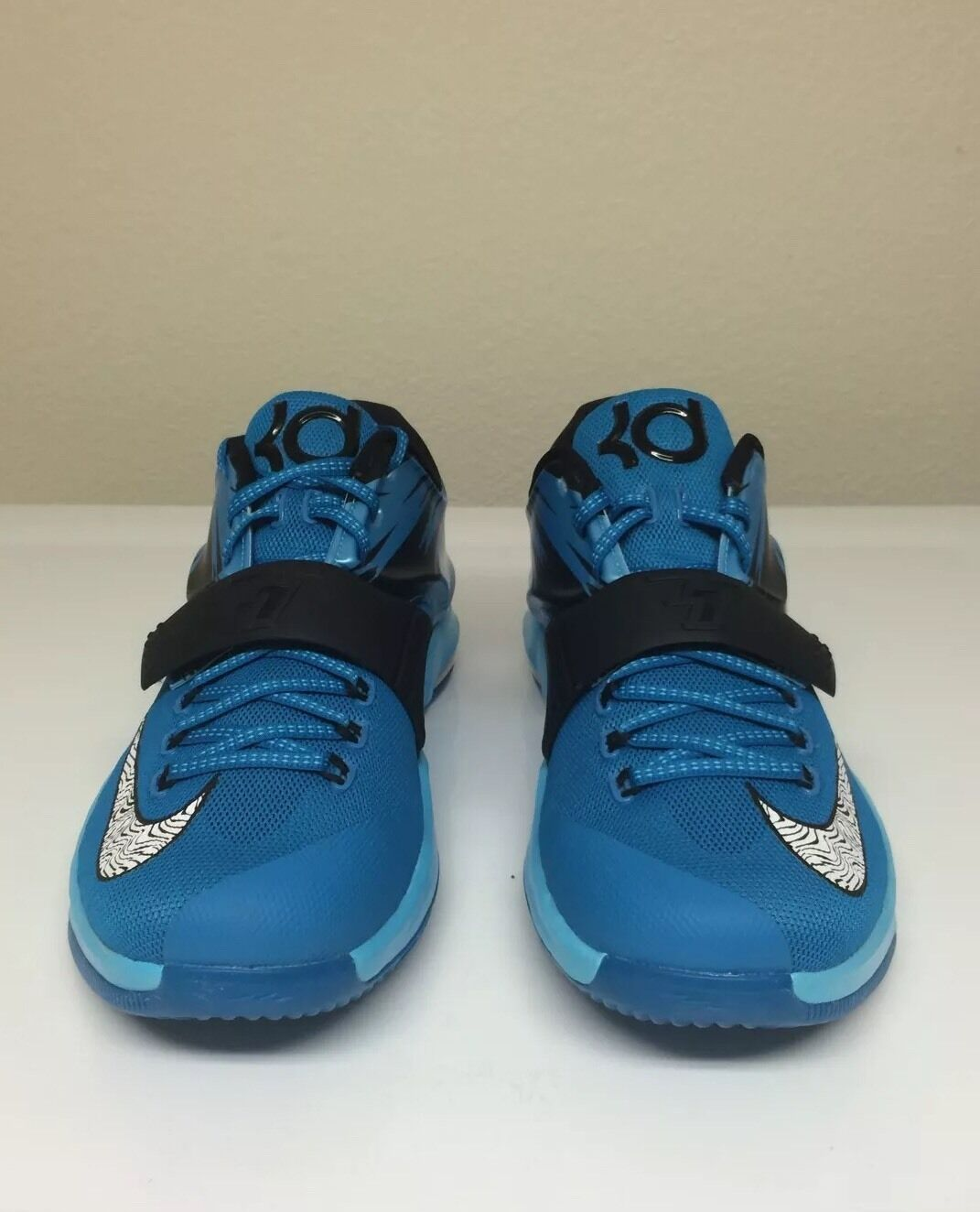 Nike KD 7 Men's Size 10 Light Blue Lacquer Clearwater Total Orange