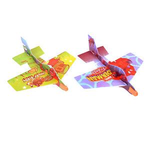 2xBird-Foam-Kids-Hand-Throwing-Flying-Aircraft-Airplane-Glider-Model-Toys-DIY-LJ