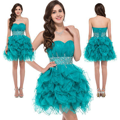 Short Bead bridesmaid graduation Homecoming dresses Prom Party Evening Ball Gown