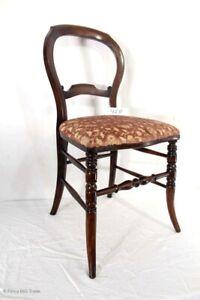 Détails sur Jolie ancienne Louis Philippe salon chaise coussin chaise  chaise en bois drechselar- afficher le titre d\'origine