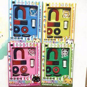 Magnets-Field-Scool-Kids-Teaching-Education-Tool-Set-Horseshoe-Magnet-Ring