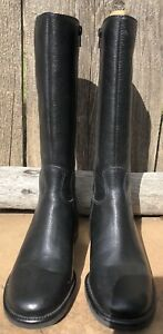 Womens Tall Black Leather Boots