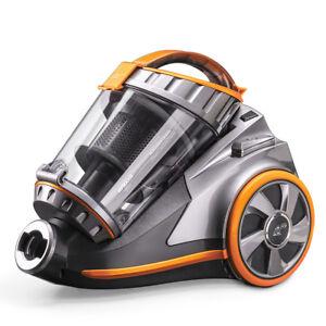 PUPPYOO WP9005BEU Canister Vacuum Cleaner Multifloor 800W Multisystem Cyclonic