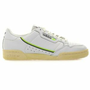 Homme Adidas Continental 80 Chaussures Baskets Blanc EF5992 Diverses Tailles UK