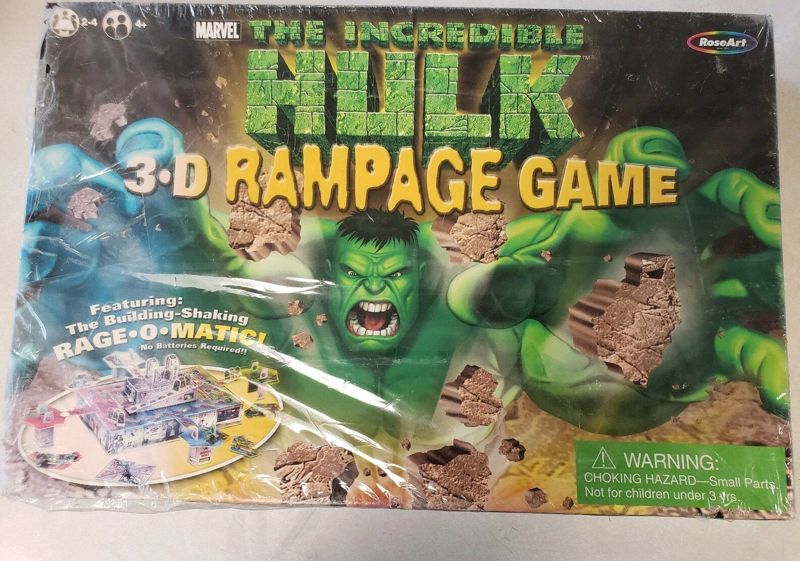 The Incredible Hulk 3D Rampage Board Game-Marvel-pink ART-From 2003-SEALED