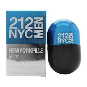 a0e38a427 Carolina Herrera 212 NYC Men New York Pills 20ml EDT Spray ...