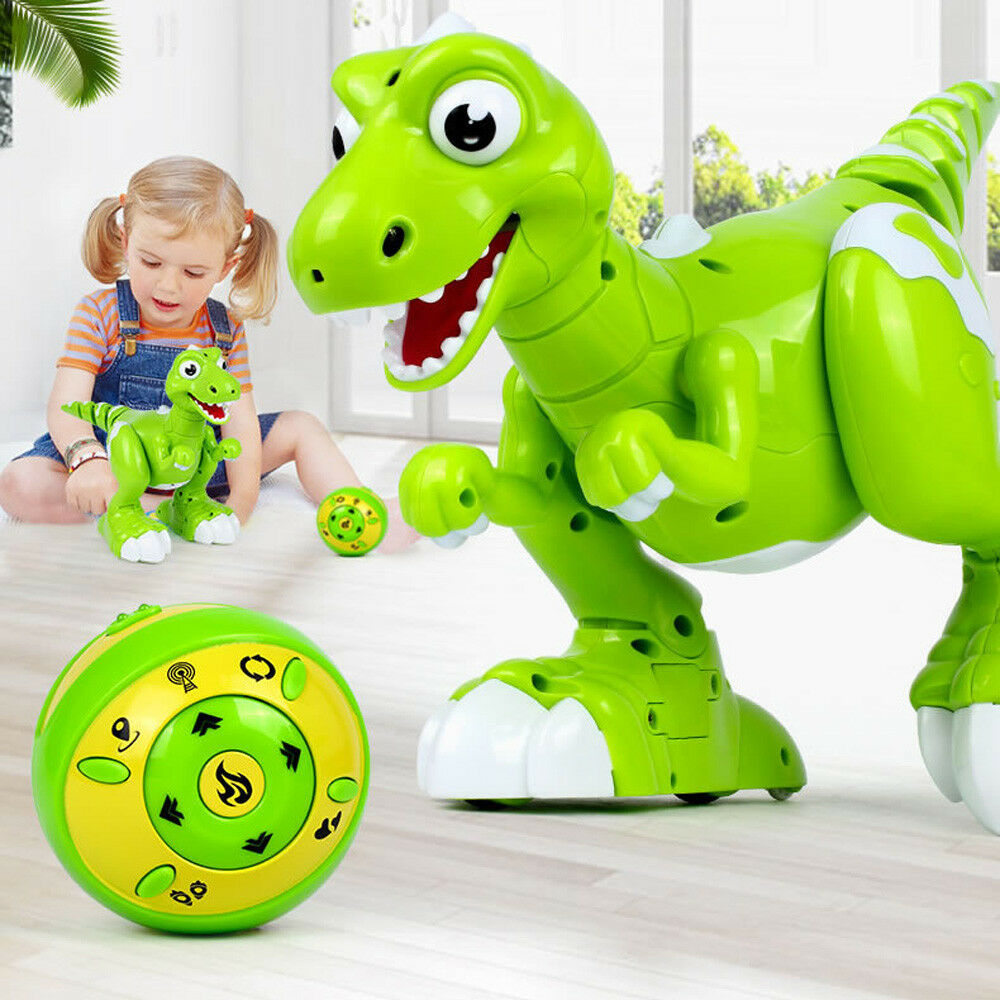Cute Robot Dinosaur Wireless Remote Control Interactive RC Toy For Kids Gift New