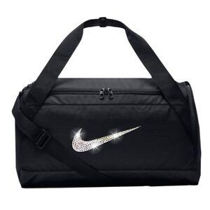 Bling Con Nike Swarovski Bag Gym Duffel Crystal Swoosh Negro Brasilia Bedazzled FqxFSw6r