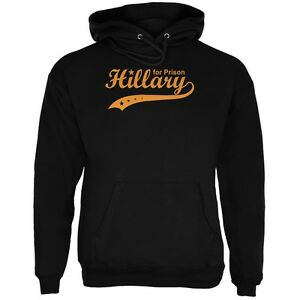 2016 Adult For Prison Hoodie Black Elección Hillary Clinton PqxHdOO