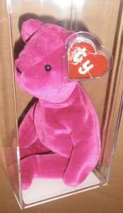 edeff2a8e9f ULTRA RARE Authenticated Ty 1st gen Old Face Magenta Teddy ...