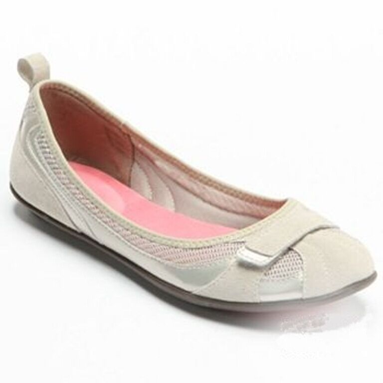 NIB Croft & Barrow Zena Suede Women's Ballet Flats shoes, Size 6.5 M, FREE S&H