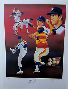 NOLAN-RYAN-AUTOGRAPHED-LIMITED-EDITION-LITHOGRAPH-BY-CHRISTOPHER-PALUSO