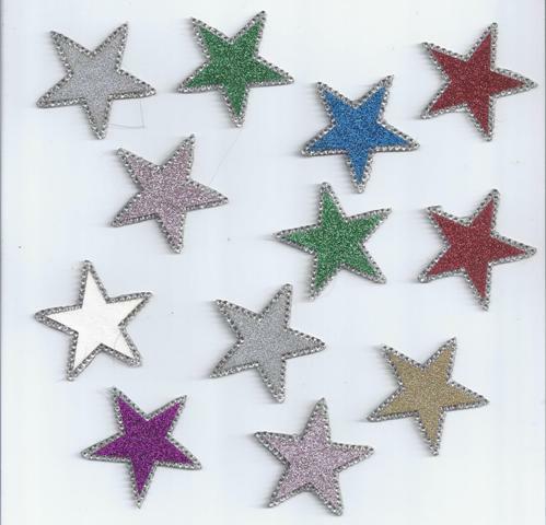 Vinyl Stars with Rhinestones Heat Press Iron On DIY Purchase is for 2 Stars