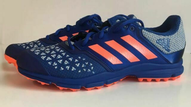 adidas Performance Mens Zone Dox Sports Lace Up Hockey Trainers Shoes Blue 12
