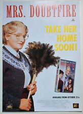 MRS DOUBTFIRE / ORIGINAL VINTAGE VIDEO FILM POSTER / ROBIN WILLIAMS 3