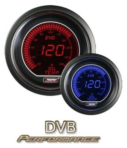 Prosport 52mm EVO Car Oil Temperature Gauge LCD Digital Display Red and Blue