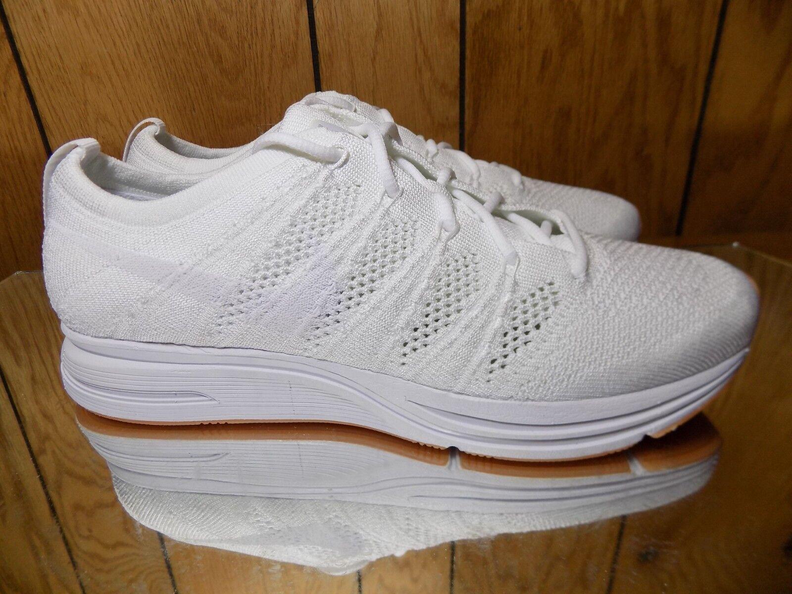 Nike Flyknit Trainer Triple White AH8396-102 Running shoes Men's s 10