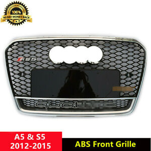 A5-Grille-Front-Mesh-Grill-for-Audi-A5-B8-5-amp-S5-2012-15-Chrome-Frame