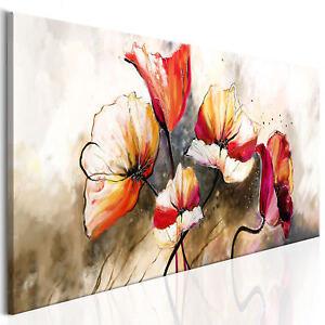 Leinwandbilder blumen mohnblume bild abstrakt natur for Wohnzimmer leinwandbilder