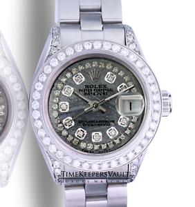 Rolex-Lady-Datejust-Meteorite-Diamond-Dial-Diamond-Lugs-Bezel-26mm-Watch