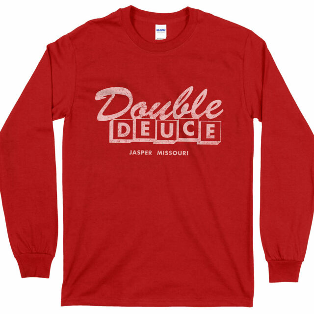 DOUBLE DEUCE T-SHIRT MENS TOP ROAD COLOUR RED HOUSE MOVIE TEE NEW 3