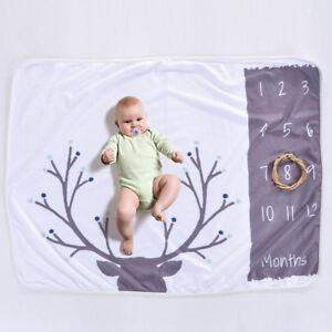 Newborn Infant Number Milestone Photography Blanket Photo Props Backdrop Cloth