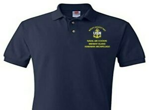 NAVAL AIR STATION MIDWAY ISLAND  EMBROIDERED POLO SHIRT/SWEAT/JACKET.