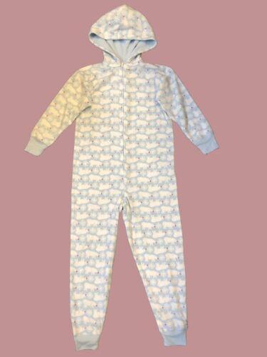 Ex Gap Kids Boys Hooded Polar Bear All In One Piece Lounge Pyjamas P170.2
