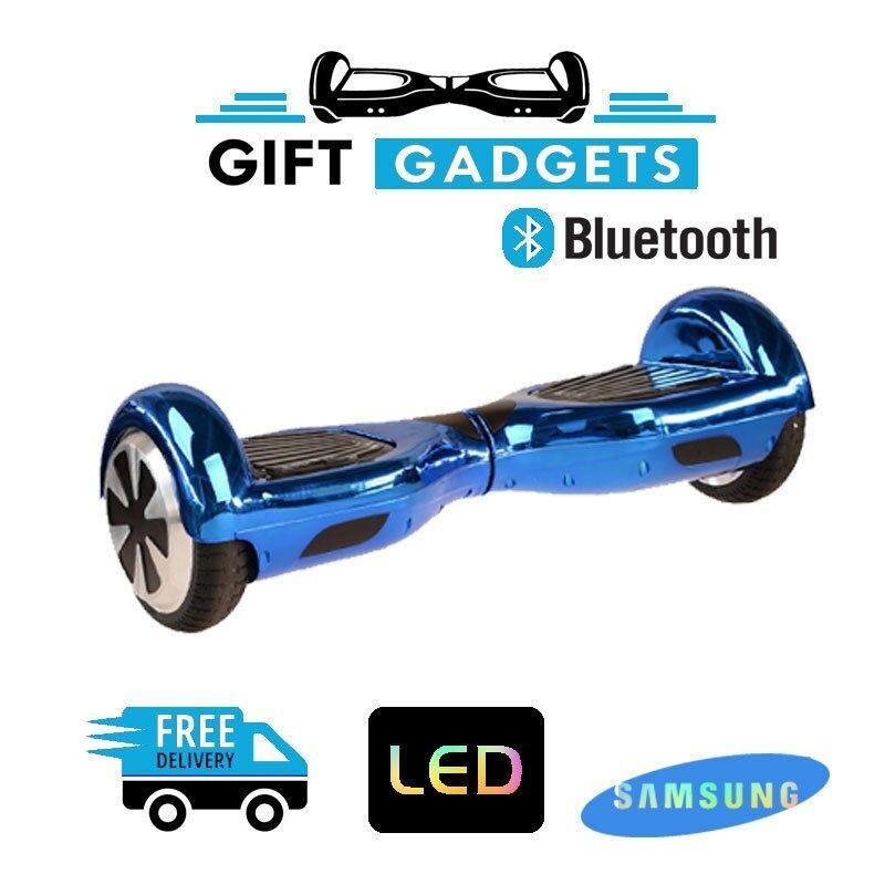 6.5  CHROME blueE Electric Self Balancing Scooter Balance Board blueetooth + Bag