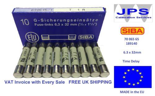 SIBA Fuse Antisurge 1A 7006565  T1A 500V typ 189140 70 065 65 JPSF048