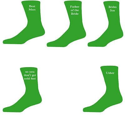 Green Luxury Cotton Rich Wedding Socks, Groom, Best Man, Usher SchöN In Farbe
