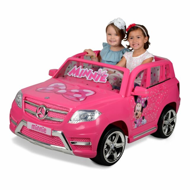 Electric Cars For Kids To Ride On Minnie Mouse Pink Motorized Vehicle 12v Suv