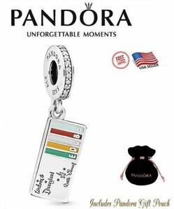 New Authentic PANDORA S925 ALE Disneyland Ticket Book Dangle Charm ...