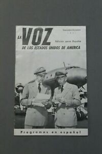 Revista LA VOZ DE LOS ESTADOS UNIDOS DE AMERICA Edicion Para España, Año 1951.