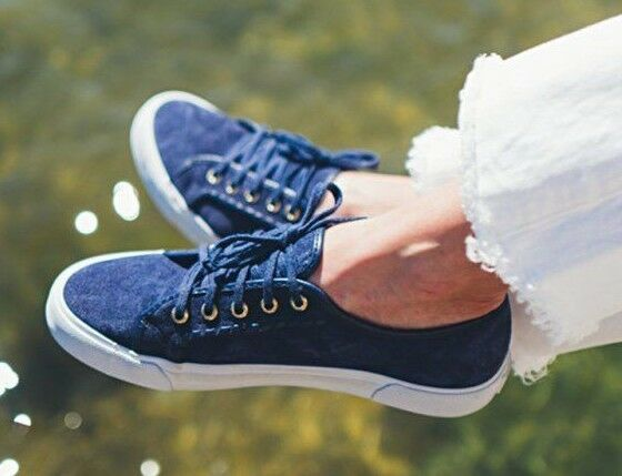 NEW Jack Rogers CARTER Slip On Turnschuhe Lace Up Up Up Navy Midnight Suede Blau schuhe 7 b3b32c