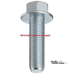 5 M10x25 Hex Flange Bolts DIN 6921 10mm x 25mm Stainless Steel M10-1.5 x 25