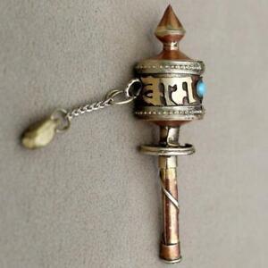 Details about Tibetan Buddhist mantra Om Mani mini/small pocket PRAYER  WHEEL handmade in Nepal