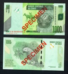 P.101b 30.06.2013 UNC DR CONGO BANKNOTE 1000 FRANCS
