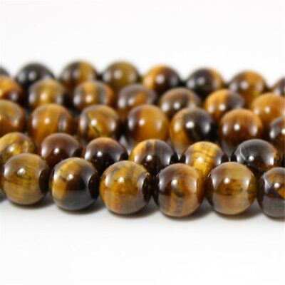 Natural Gemstone Beads Polished Tiger/'s Eye Stone 4MM 6MM 8MM 10MM 12MM 14MM