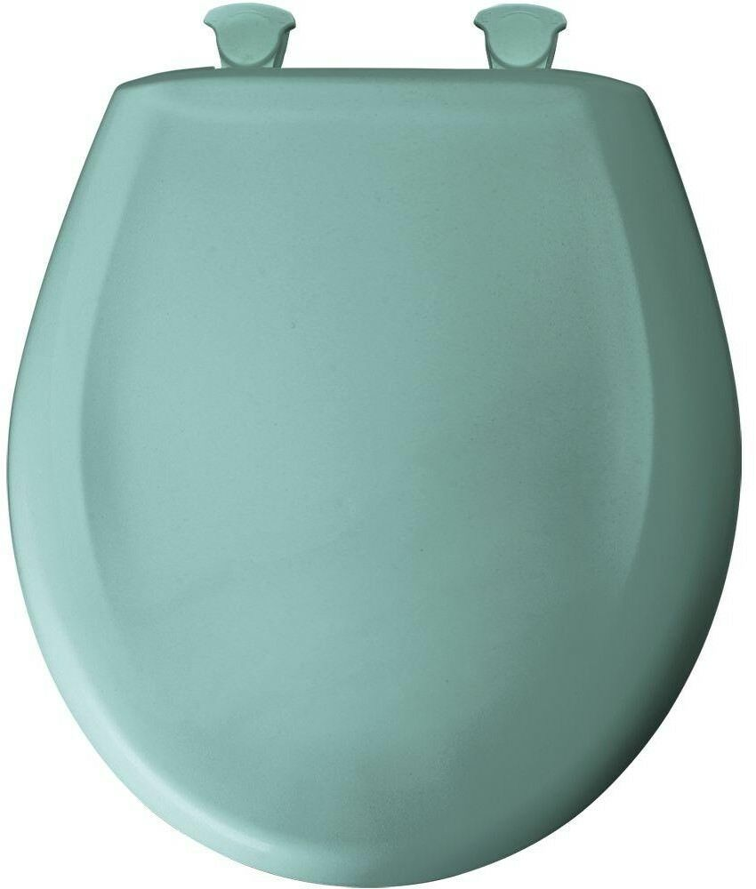 Toilet Seat Round Plastic Closed Front in in in Spruce Grün with WhisperClose Hinge c64025