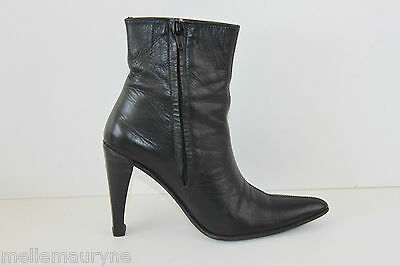 Glorioso Bottines Boots Demirel Leather Noir Hauts Talons T 6 Us / T 37.5 Fr Be