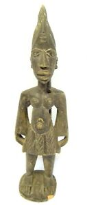 Antique-Old-Tribal-Art-African-Warrior-Standing-Carving-Figure-Carved-Wood